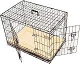 MaxxPet - Hundekäfig 2 Türen - Hundebox Transportkäfig - aus extra starkem Draht stabil und zusammenfaltbar - 107 x 71 x 76cm + PLAID