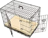MAXX - Hundekäfig 2 Türen - Hundebox Transportkäfig - aus extra starkem Draht stabil und zusammenfaltbar (107x71x76 cm)