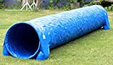 Callieway® Dog Agility Tunnel Profi/Hunde Tunnel 5m lang / 60cmØ Agility Gerät (5m, limettengrün)