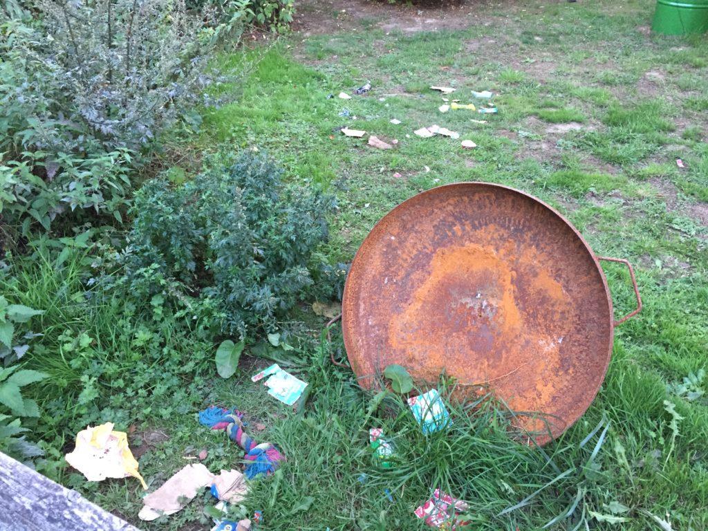 Hundesicherer Garten - Hund frisst Müll